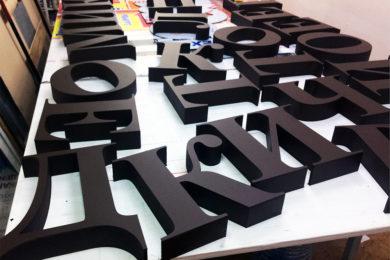буквы из пеноплекса