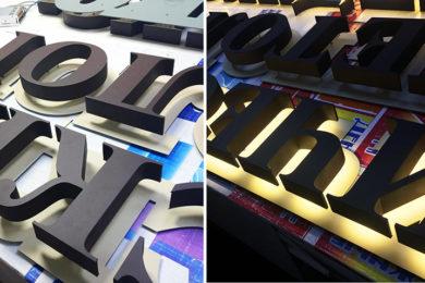 световые буквы 2